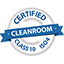 a Certified Class 10 ISO 4 Cleanroom