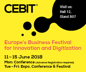 CEBIT 2018 | June 12-15 | Booth # B07, Hall 12 | Hannover, Germany