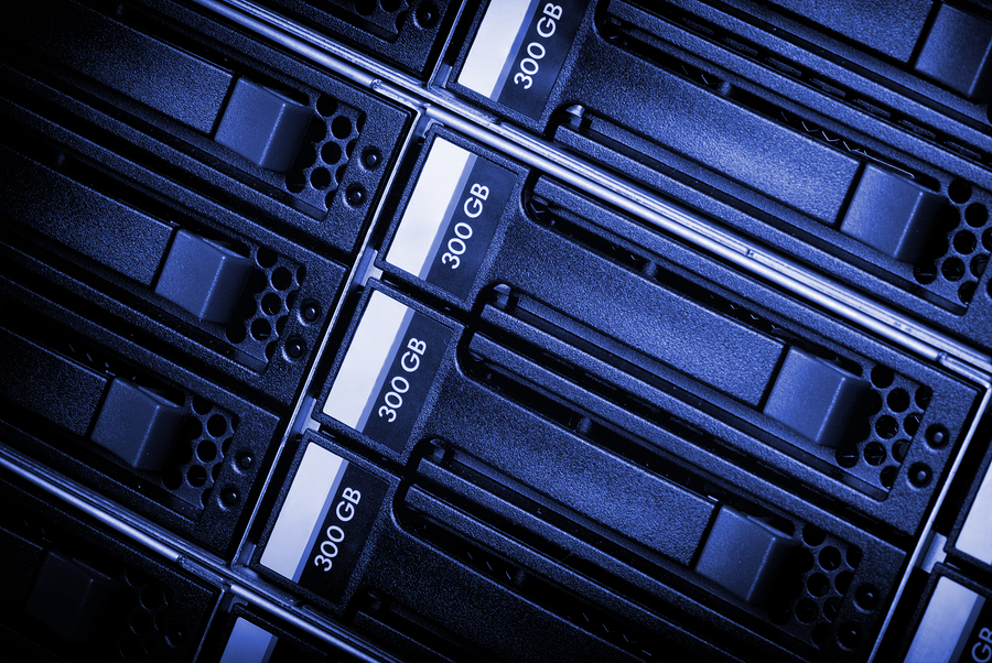 Disk array in datacenter