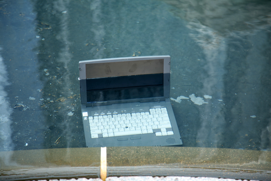 A Laptop in Water