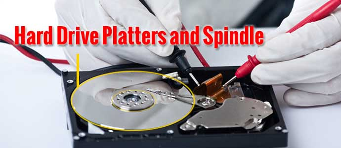 Hard Drive Platters and Spindle