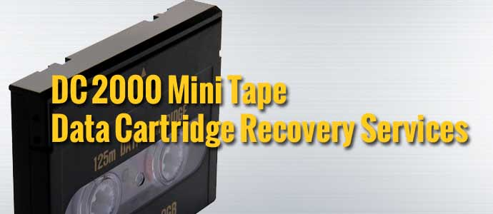 DC 2000 Mini Tape Data Cartridge Recovery
