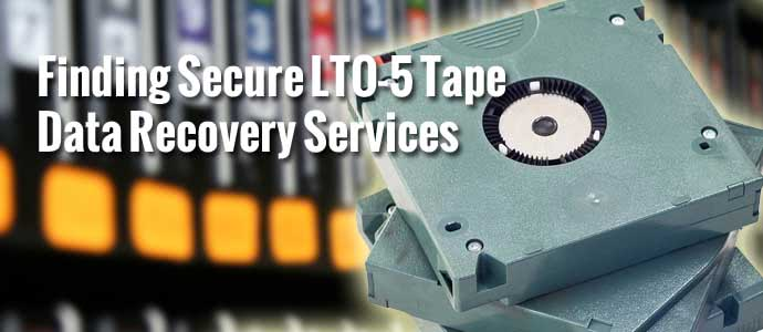 LTO-5 Tape Data Recovery