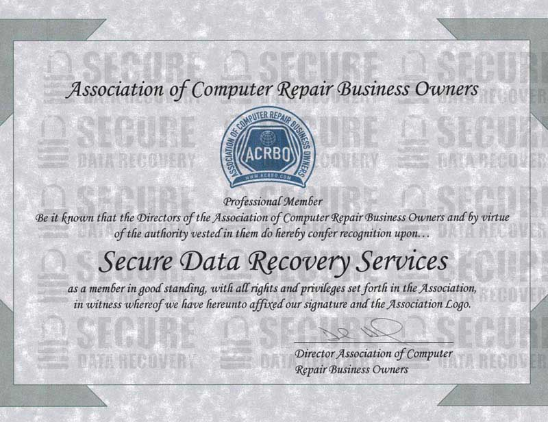 Acrbo Member Secure Data Recovery Services