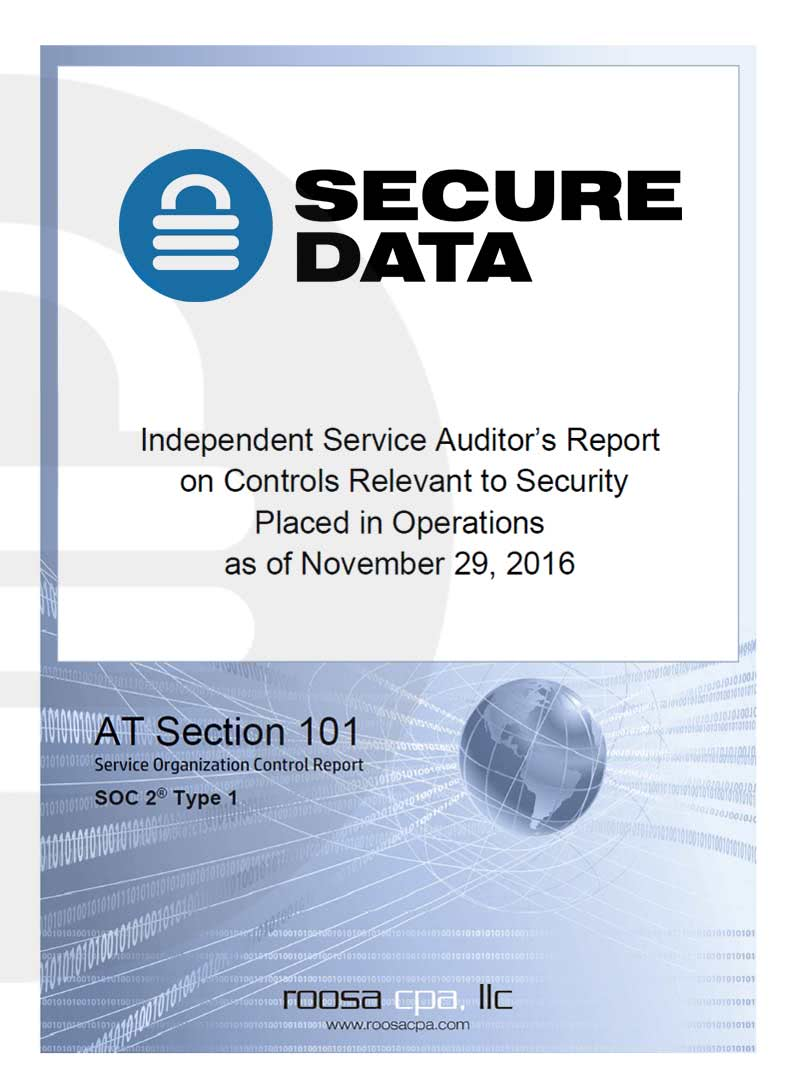 SSAE 16 Type I & Type II Certification - Secure Data Recovery Services