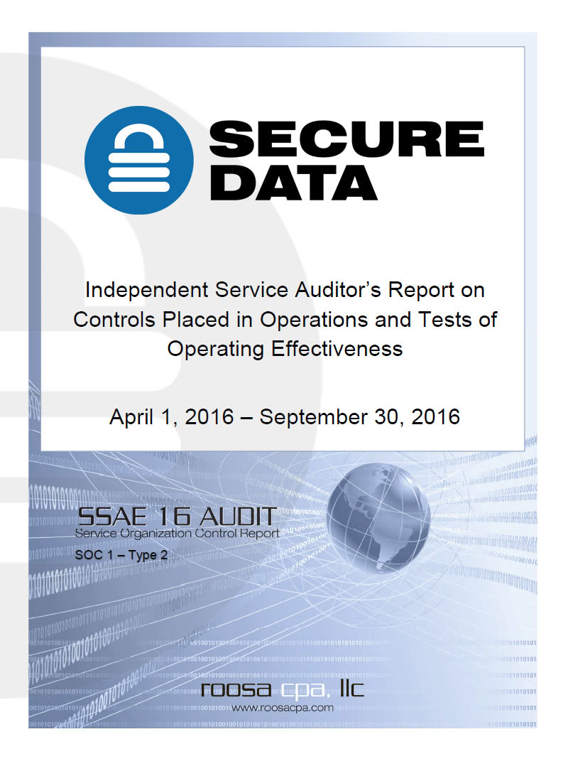 audit report cover page