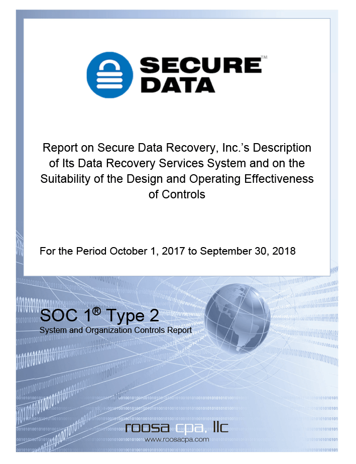 SSAE 18 Type II Report Cover Page